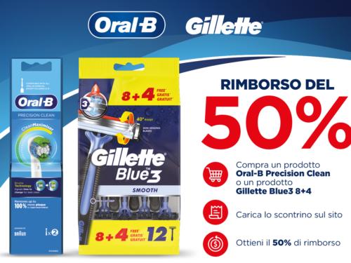 Cashback 50% Gillette & Oral-B- iN's